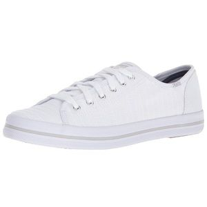 KEDS White Canvas Eyelet Stripe Sneakers, 11M NIB